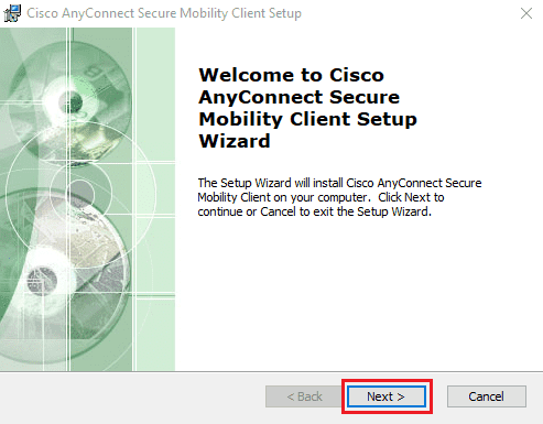 cisco anyconnect in windows screens